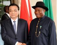 President Jonathan and Chinese Premier, Li Kequang,
