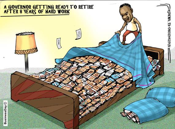 Assembly Make the Bed, Governor LIES on it  ~ Cartoon Attribution: Mike Asukwu